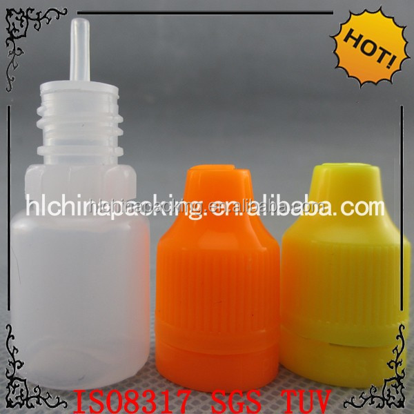 small 5ml flavors nicotine oil drop vial with long thin tip