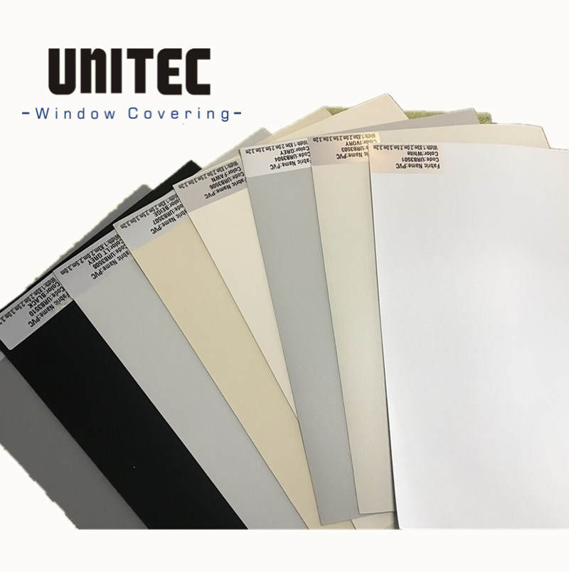 PVC fiberglass fabric Blackout fabric for roller blinds and vertical