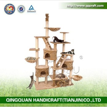 QQ Catree Factory High Quality Cat Tree House / Wholesale Cat Tree For Cat