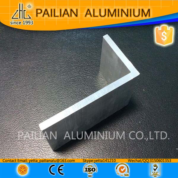 6063 T5 L shape aluminum profile extrusion, cnc machining aluminium angle bar, price of aluminum angle profile