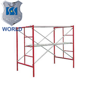 Outside Door Frame Scaffolding Guangzhou Manufactu Orange painted Easy Access H-Frame Open