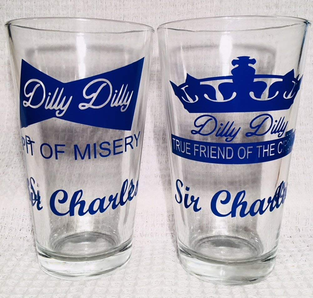Personalized Set of 2 - Dilly Dilly Pint Glasses, Beer, Gift For Him, Gift For Dad, Custom Pint Glass, Dilly Dilly Beer, Commercial Glass, Glasses. Beer Gift