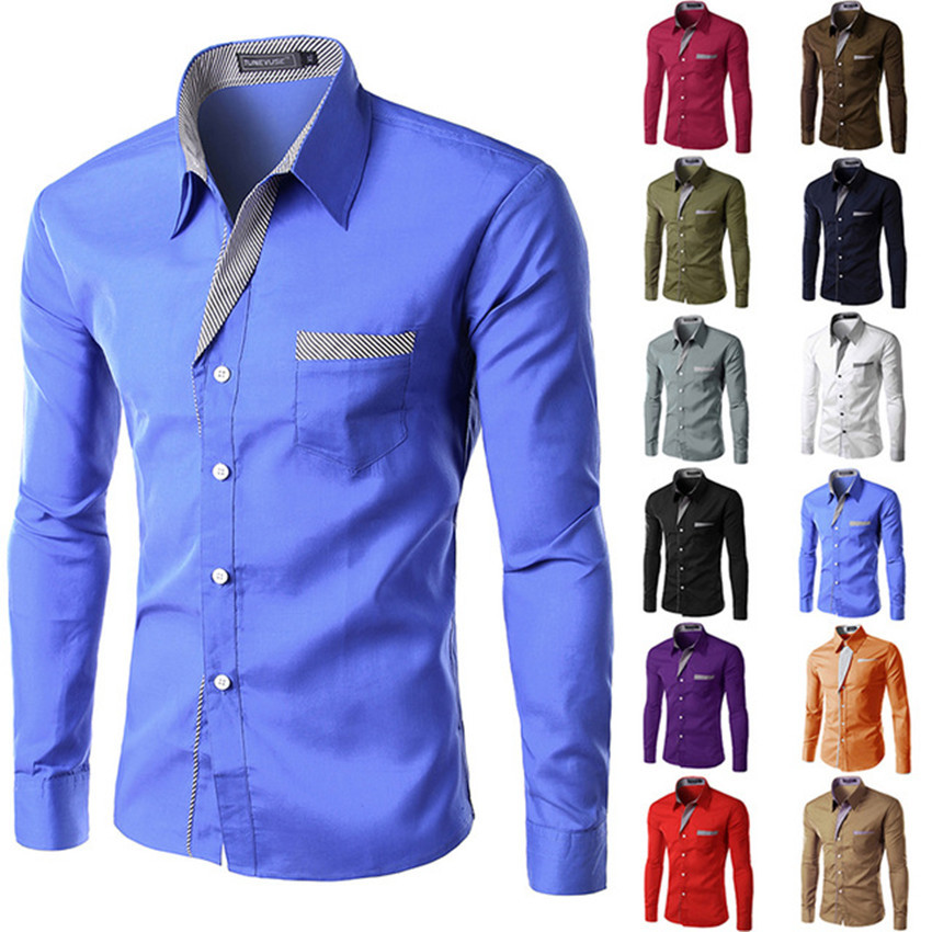 Men's Classic Fit Spread-Collar Pattern Non-Iron Dress <strong>Shirt</strong>