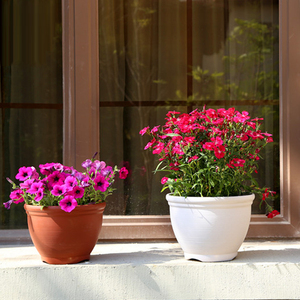 Home garden outdoor fancy round plastic flower pots