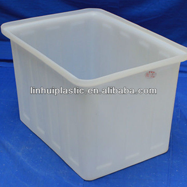 Natural Solid Plastic Rectangular Stacking Tank --120L