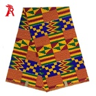 Wholesale african kente cloth fabric prints 6 yards real wax
