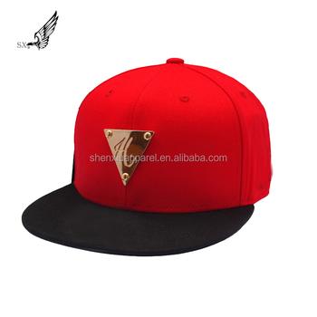 Six Panel Custom Metal Plate Logo Snap Back Design Rap Cap Snapback Hat Caps 9da6ecde8710