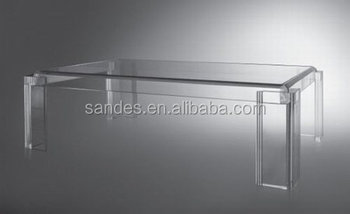 Transparent Plastic Elegant Detachable Plexiglass Side Table