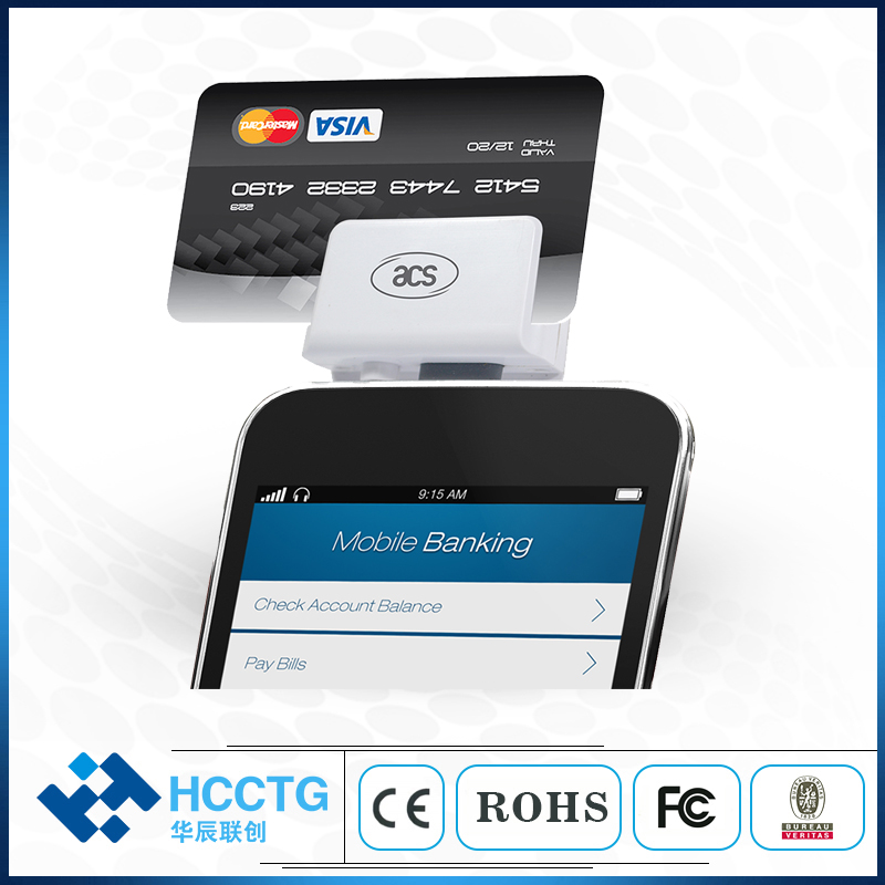 3.5mm Audio Mobile Magnetic POS Swipe Card Reader Machine For Phone ACR31