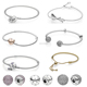 original quality 925 sterling silver bangle bracelet fit pandora charms