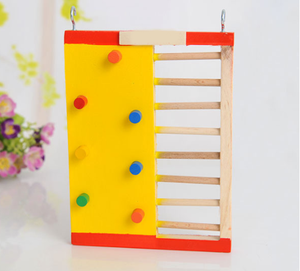 Hamster Gold Wire A Bear Cage Wood Toys DIY Two Layer Villa Colour Motion Climb The Ladder Rock Climbing Climb The Ladder