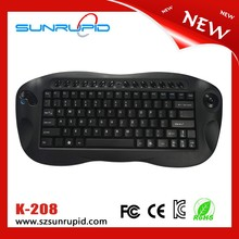 2.4GHz black color mini wireless keyboard with trackball for tablet pc