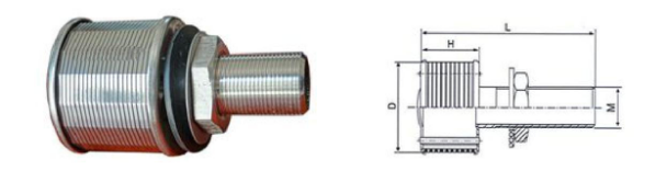 楔形鋼絲304 316不銹鋼濾嘴,用于水處理