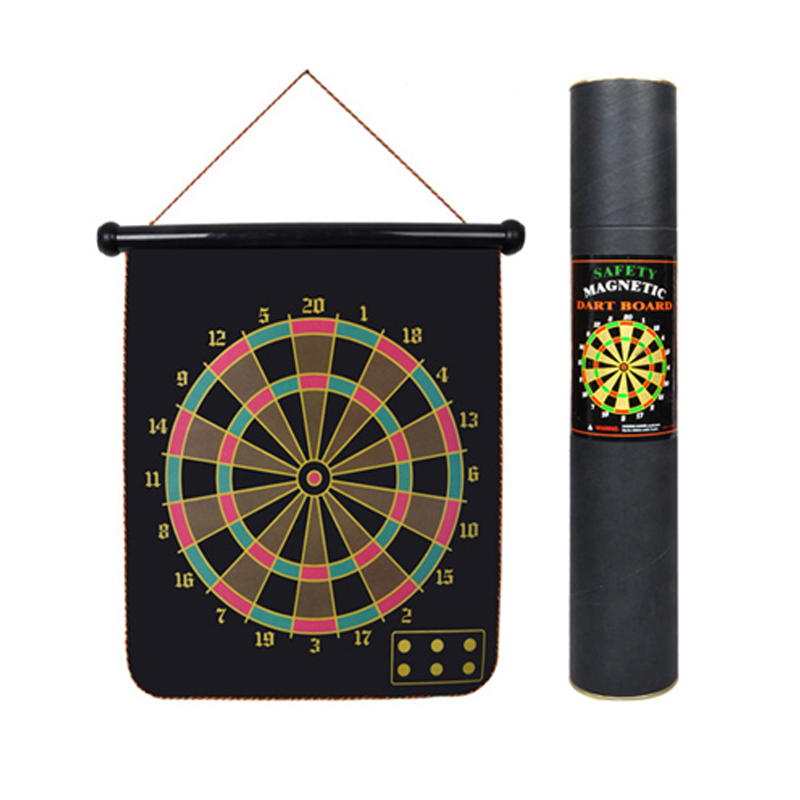 Made In China 15 ''Roll Up Magnetic DART BOARD กับ 6 ลูกดอก