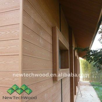 Exterior Wood Plastic Wall Cladding Board, View wood plastic wall ...