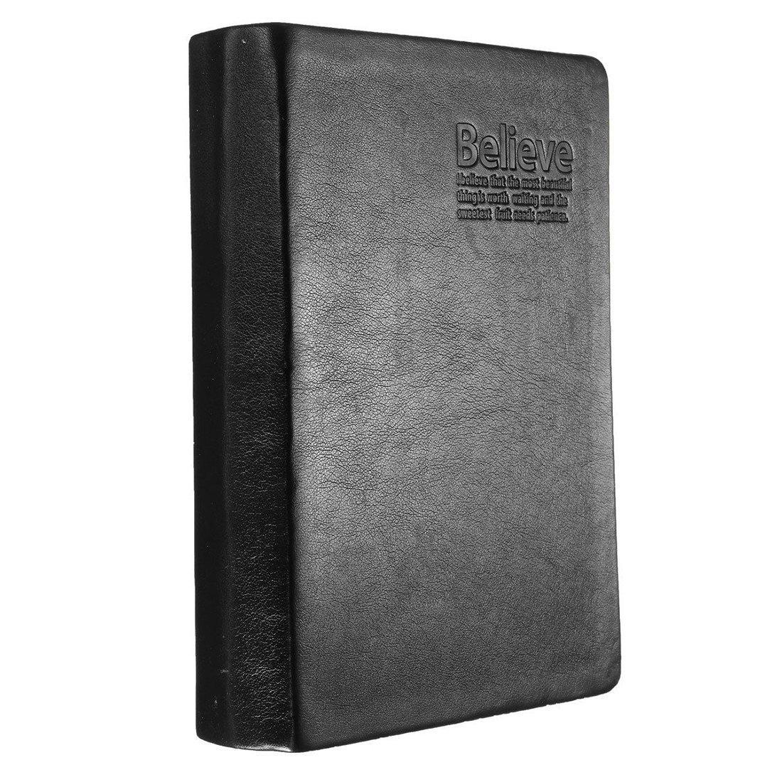 Notebook - TOOGOO(R)Book From Bloc Notes Memo Paper Notebook Agenda Black PU Leather Journal