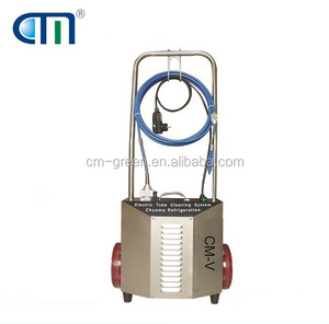 oil less tube cleaning unit refrigerant pipe trolley type pipe cleaner with shaft CM-V