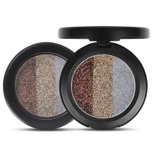OEM custom private label 3in 1 rainbow diamond pressed glitter eyeshadow super sparkle diamond eye glitter makeup wholesale