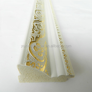 Hot Sales Gold White Color Polystyrene Picture Frame Moulding