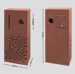 Rust decorative corten steel mailbox for house