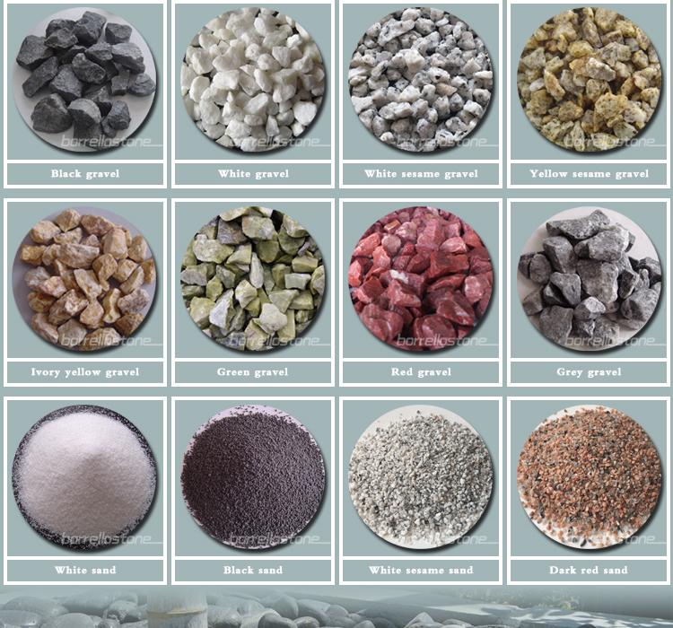 Landscaping stone round black polished pebbles