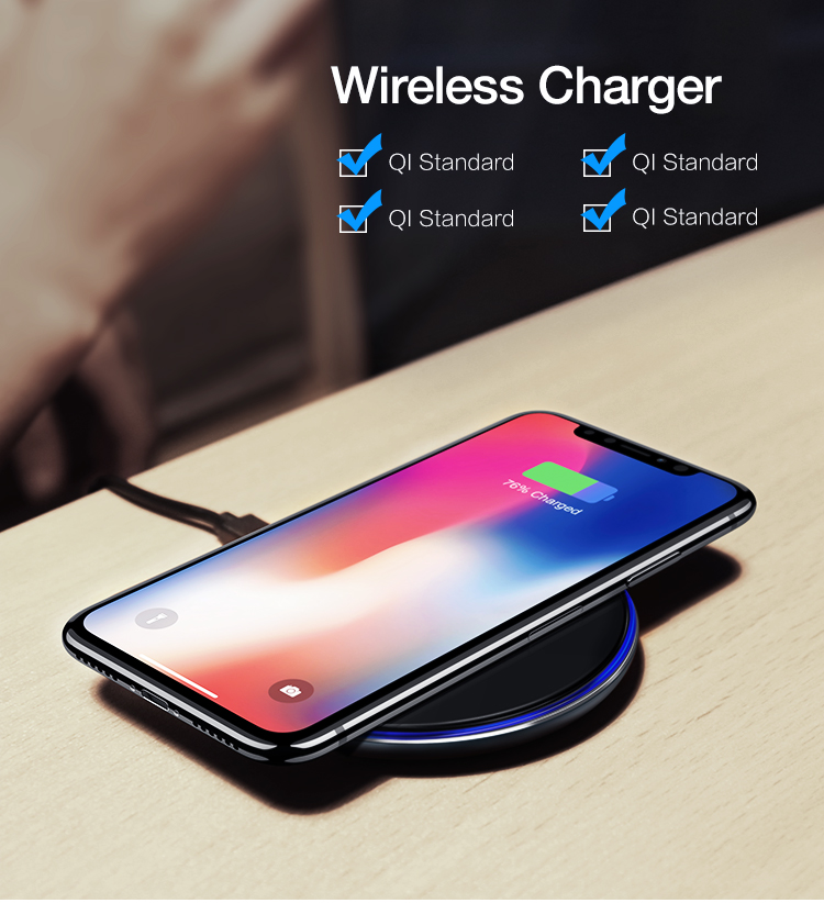 Great Free Shipping RAXFLY Mobile Phone Fast 10W Qi Wireless Charger Charging Pad For iPhone For Samsung