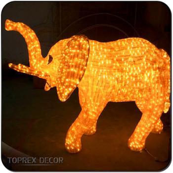 christmas elephant motif light decoration for outdoor - Christmas Elephant Outdoor Decoration