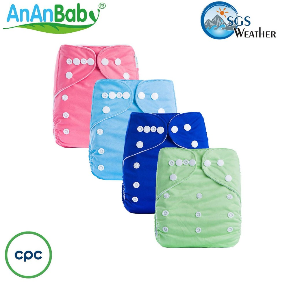 AnAnBaby Hot Sale One Size Sleepy Baby Cloth Diaper With Snaps
