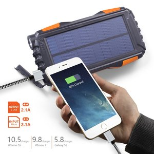 Portable Rohs Manual Solar Portable Charger 24000Mah Solar Power Bank 24000Mah With Led For Cellphone