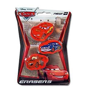 Disney Cars 3pk Pencil Top Erasers Clearance!