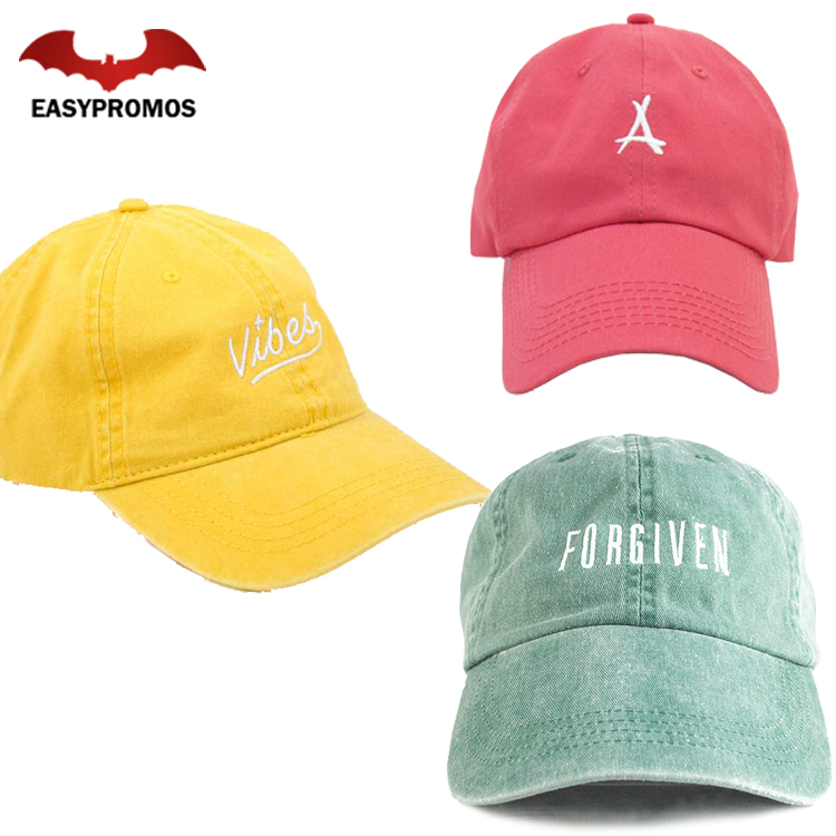 596c04d77fa Custom High Quality Coloful Metal Buckle Distressed Hats Baseball Cap  Embroidered Dad Hat Promotion Cap with Embroidery Logo