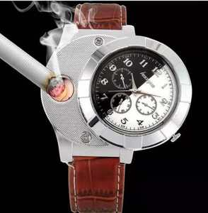 USB Rechargeable Watch Electronic Lighter Environmental Cigarette Lighter
