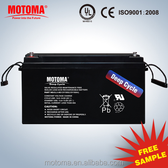 24v solar battery 150ah deep cycle battery