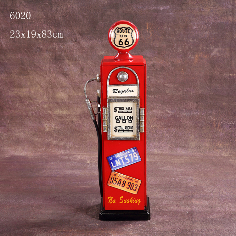 Gas pump decoration conner bar cabinet vintage furniture wooden
