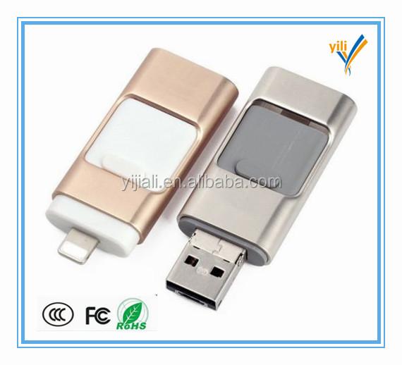 Hot Sale New Product Mobile Phone custom otg usb <strong>flash</strong> drive For iPhone with Logo