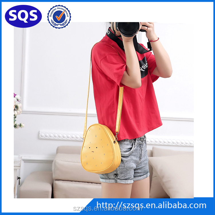 New arrival high grade PU trendy Small Long Strap Shoulder Bag for Girls