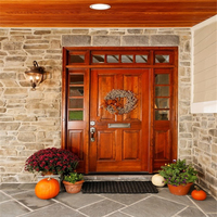 High quality Solid Wooden Front Door Designs