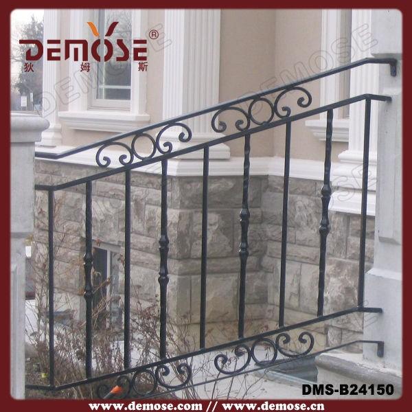Usado de hierro forjado pasamanos escalera exterior - Escaleras de hierro forjado ...