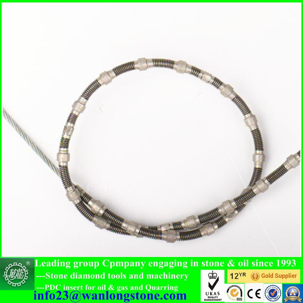 Stone/Marble cutting wire saw beads diamond wire for marble quarry ...