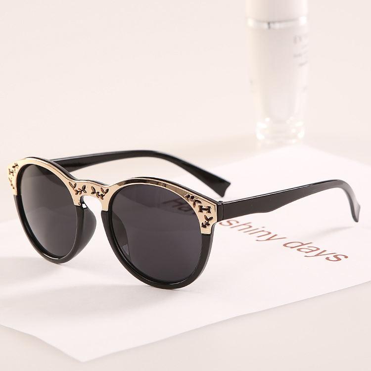 d7066db4ce23 Get Quotations · Round Luxury Metal Flower Women Designer 2015 Sun Glasses  Fashion Sunglasses Oculos De So J61 Band