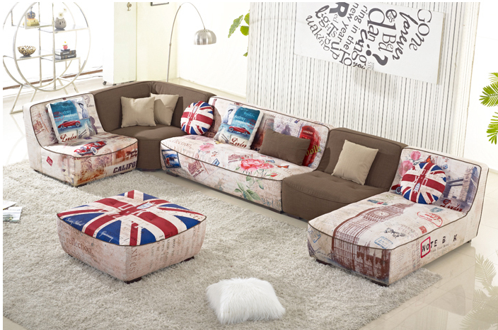 Inggris Style Sofa Untuk Ruang Tamu Tradisional S86