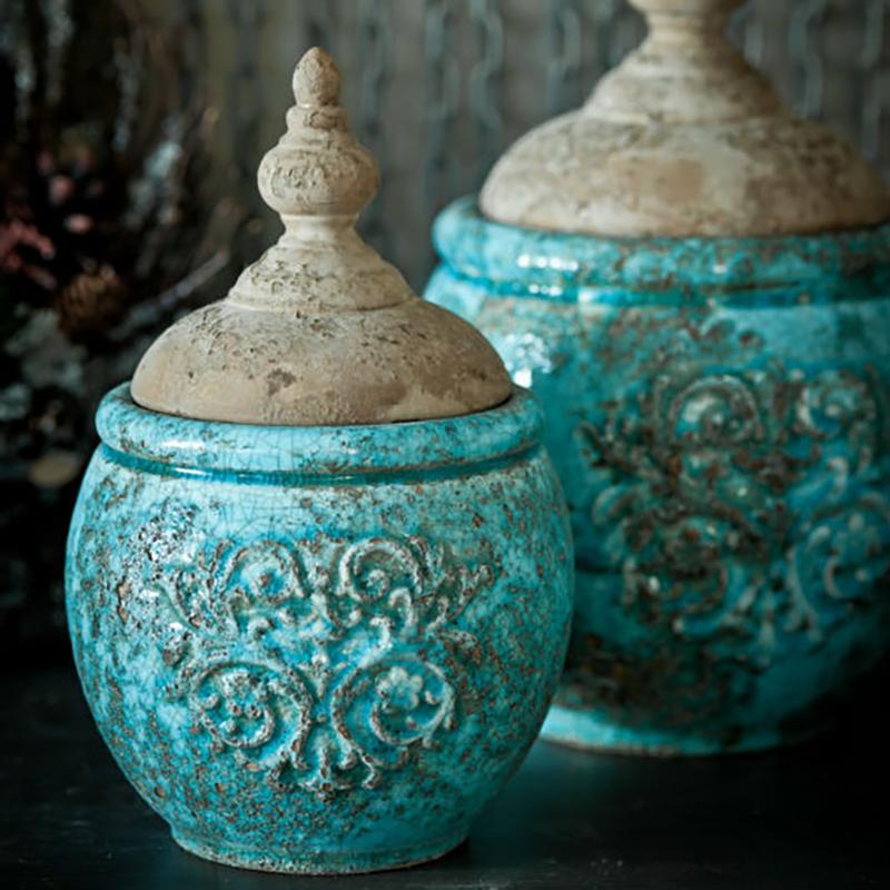 MM94 Wholesale Shabby Chic Home Decor Ceramic Custom Porcelain Jar