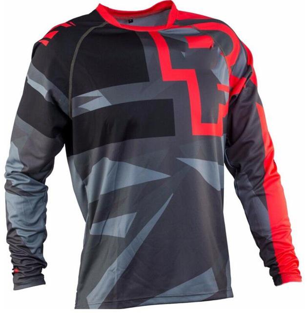 Custom design 100% polyester sublimation motorcycling wear jerseys cycling jersey long sleeve men