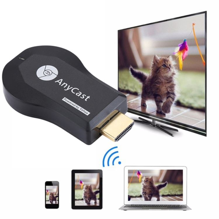 AnyCast M9 PLUS Wireless WiFi Display Dongle Receiver AirPlay Miracast DLNA 1080P เครื่องรับสัญญาณทีวีสำหรับ iPhone และโทรศัพท์