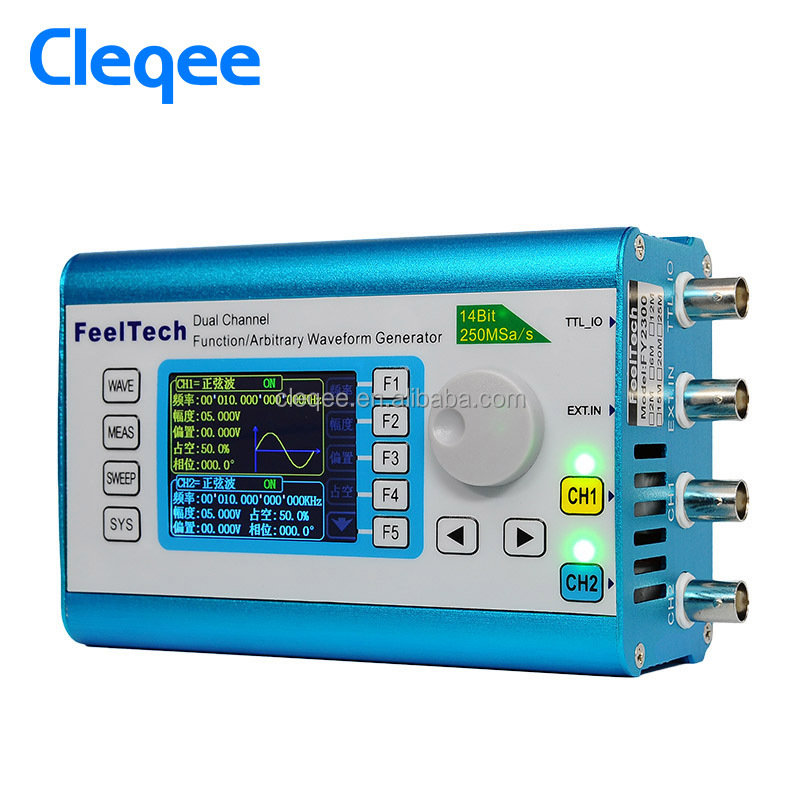 Cleqee FY2300H-30MHz Arbitrary Waveform Dual Channel High Frequency Signal Generator 250MSa/s 100MHz Frequency meter DDS