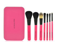 7pcs makeup brush set, private label makeup brushes, eye shadow brushes with case