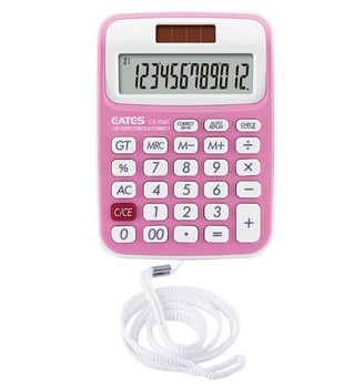 12 digit calculator with rope kids love calculator colorful design
