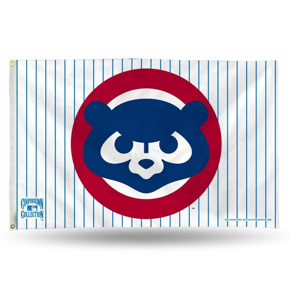 Chicago Cubs 1984 Cooperstown 3 x 5 Flag