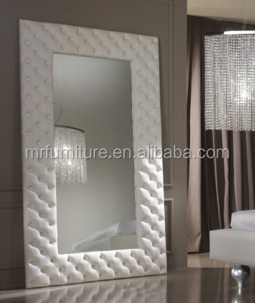 MR-2Q0198 PU leather frame large floor standing mirror or wall mirror