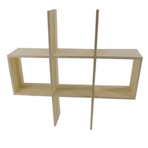 Display floating shelves wood stand wooden holder made in China